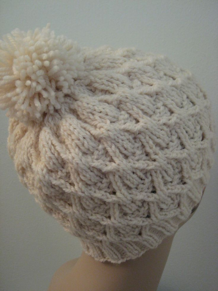 Free Knitting Pattern - Hats: Wickerwork Hat