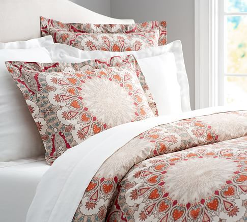 Valencia Paisley Pillow Cover Pottery Barn Patterned