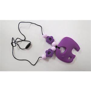 Collier- Éléphant en silicone pour bébé