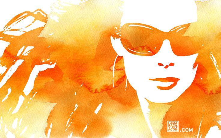 Orange Girl Watercolor: Orange Art, Girls, Colors, Google Search, Wallpaper, Color Orange, Orange Crush