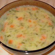 Polish soup made with cucumbers called ogorkowa. yum!