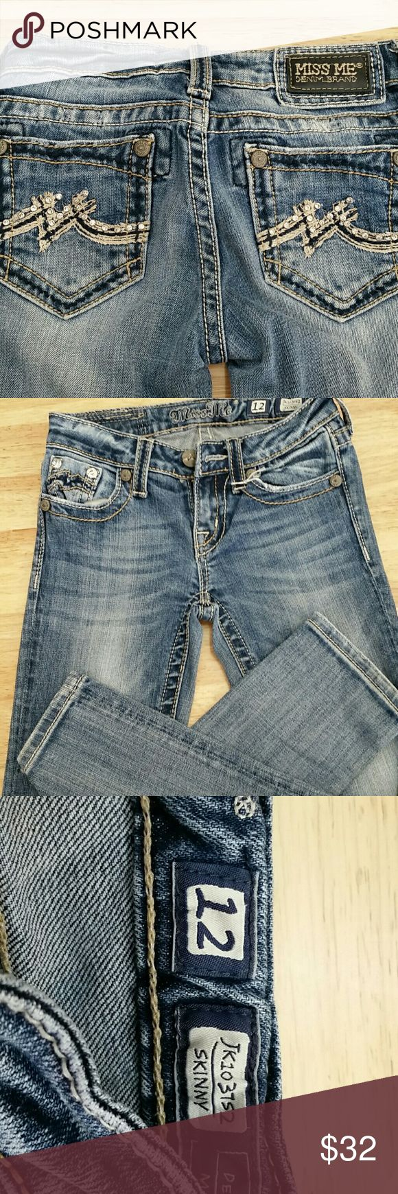 Girls Miss Me jeans Gently used girls Miss Me jeans Miss Me Bottoms Jeans