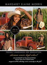 Black Multi Photo Graduation Announcement