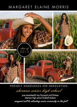 Black Multi Photo Graduation Announcement