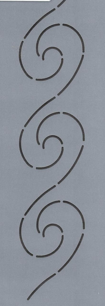 """Wave Border 2"""" - The Stencil Company"""