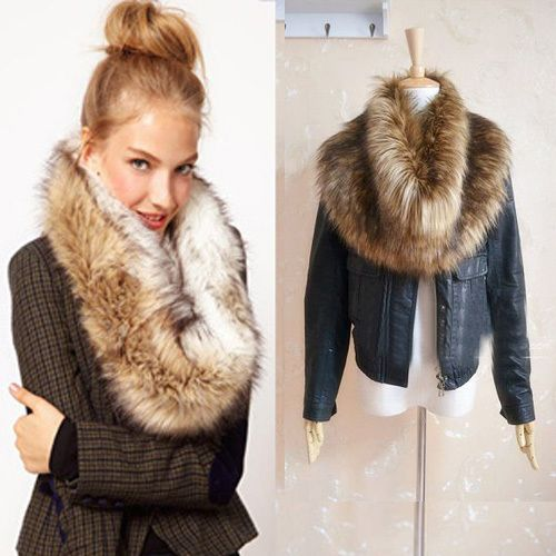 Trendy Winter Warm Faux Fur Shrug Scarf Wrap Collar 5 Colors Scarves