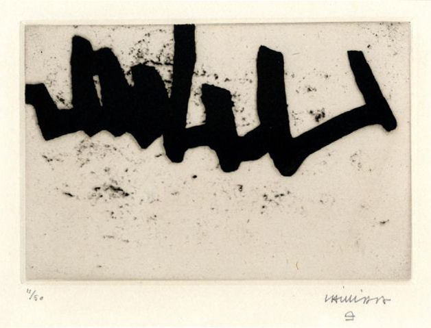 "Eduardo Chillida, ""Continuation I"" Etching, 1966."