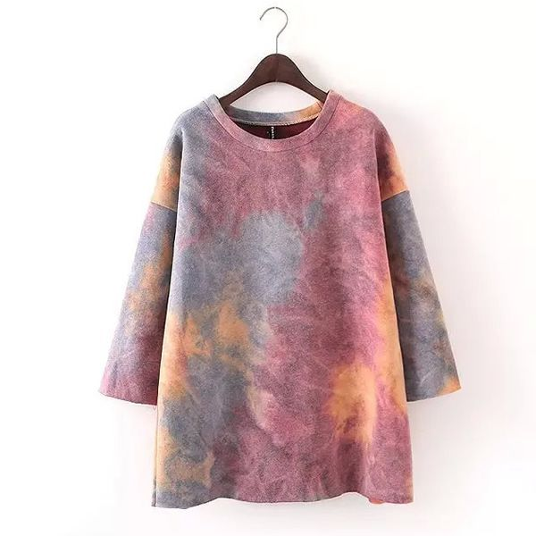 Spandex & Polyester & Cotton Women Sweatshirts, starry sky pattern, more colors for choice, Size:Free Size - yyw.com