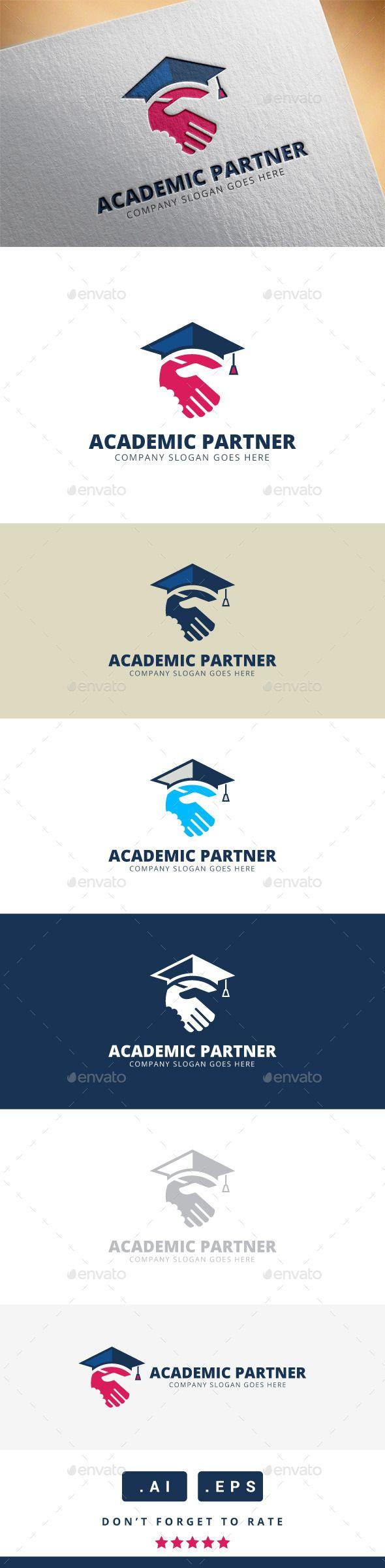 Academic Partner Logo — Vector EPS #corporate #creative