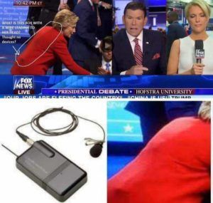 Viral Posts Claims Hillary Clinton Cheated during the debate ...