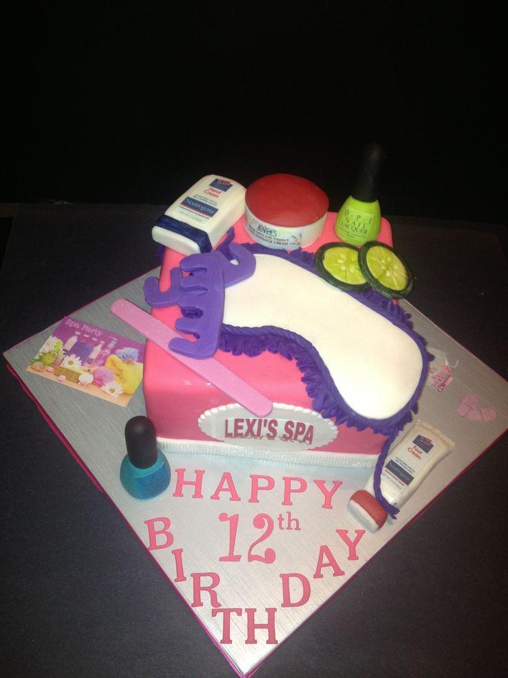 The  Best Spa Birthday Cake Ideas On Pinterest Kids Spa Party - Spa birthday party cake
