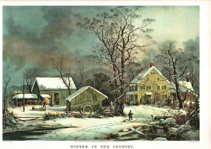 A Large Currier and Ives print of Winter in the Country. The page is approx. 18 3/4 inches wide and 14 inches tall. by Blossomprintsandmore on Etsy