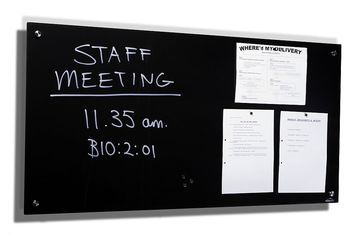 Black Magnetic Glass Board - JP Office Workstations