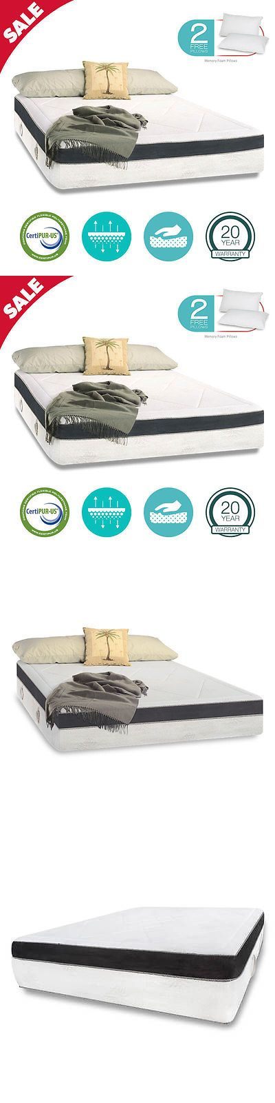 Mattresses 131588: 15 King Size Medium-Firm Cool Aloe Gel Memory Foam Mattress Free Pillows Cover -> BUY IT NOW ONLY: $689.99 on eBay!