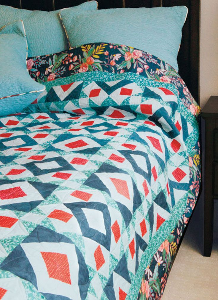 A simple twist of one clever block results in a captivating quilt design.