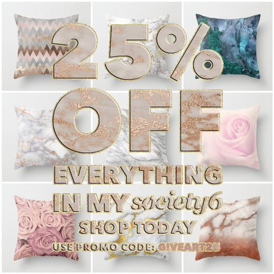 25% Off Everything Today With Promo Code GIVEART25 on #Society6 society6.com/... society6.com/... society6.com/... #home #dorm #pillow #homedesign #homedecor #marble #glitter #mermaid