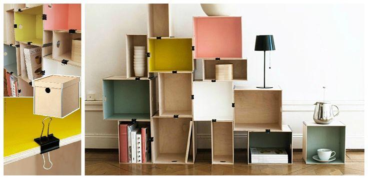 Les 15 meilleures id es de la cat gorie organisation de meuble classeur sur p - Etagere modulable ikea ...
