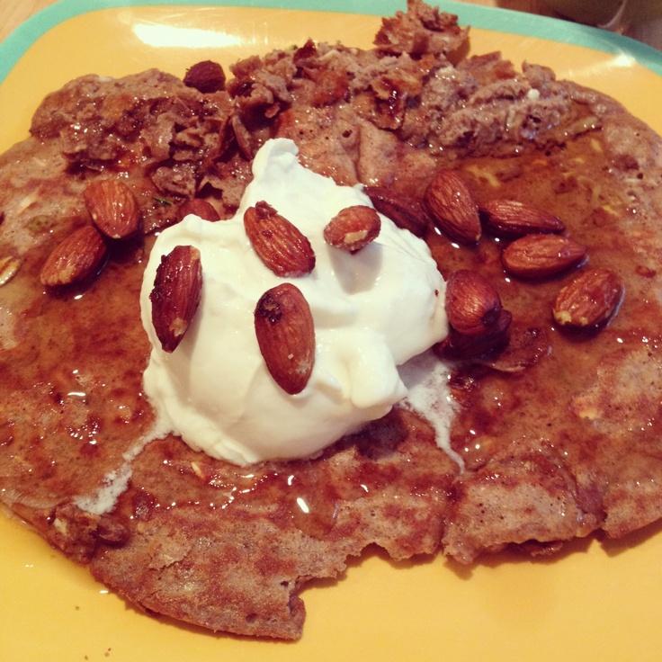 Protein Pancake-PP, Zuchinni, and cottage cheese.