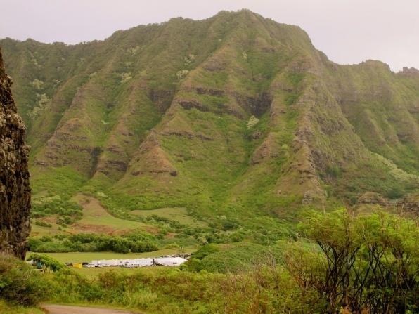 Mountain side in Hawaii
