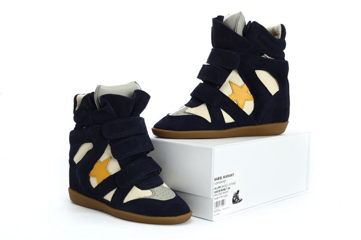 Isabel Marant Wedge Sneakers High Top Suede Leather Blue  $299.00 http://www.marantoutlet.com/cheap-isabel-marant-wedge-sneakers-high-top-suede-leather-blue_8.html