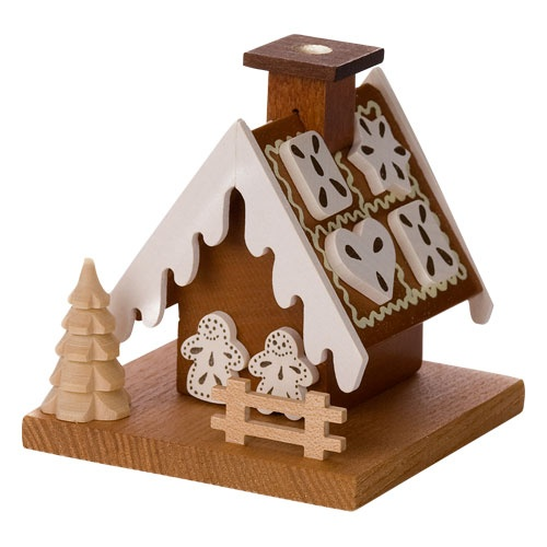 Frosted Gingerbread House Smokers Gingerbread House Ornaments
