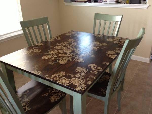 aqua painted dining set on pinterest | dining sets