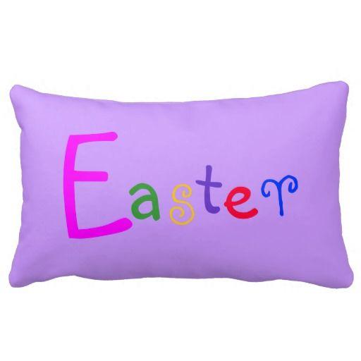 Easter Lumbar Purple Throw Pillow