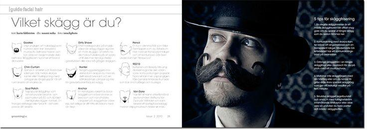 Skäggfrisyrer och skäggvård. http://groomingmagazine.se/