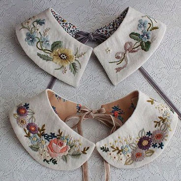 169 отметок «Нравится», 28 комментариев — Fabric Jewelry Artist (@ceci_leibovitz) в Instagram: «The most beautiful #embroidered collars by Rairai. @rairai_ws»