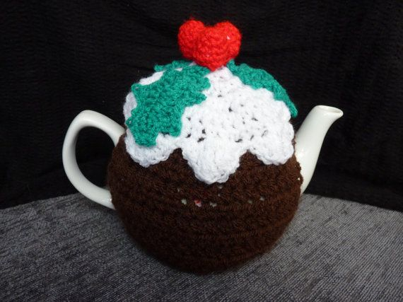 The Christmas Pudding Crochet Tea Cosy, 4-6 Cups Tea Pot