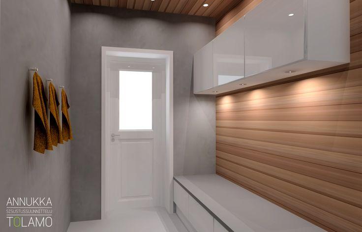 Sisustussuunnittelu Annukka Tolamo / 3D-mallinnus pukuhuone