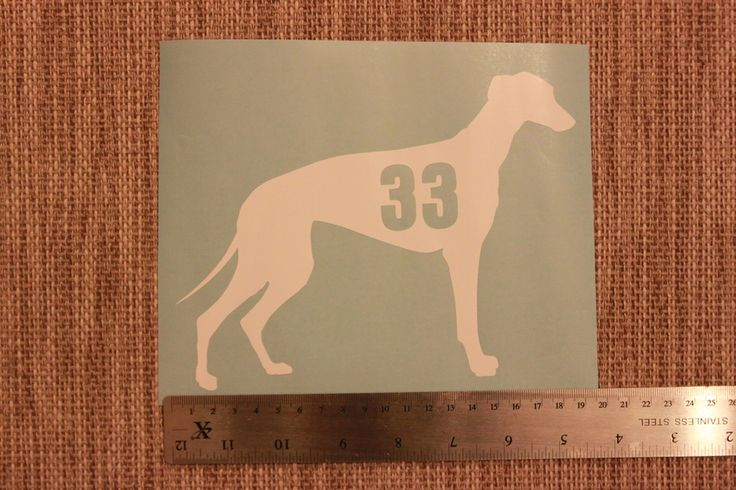 3 x Greyhound/Whippet wheelie bin number stickers via Puppy ID Collars. Click on the image to see more!