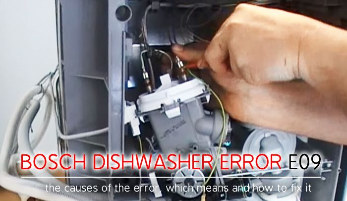Bosch Dishwasher Error Code E09 If Your Bosch Dishwasher Shows An E09 Error Code You Have To Eliminate The Problem Immediately Bosch Dishwashers Bosch Coding