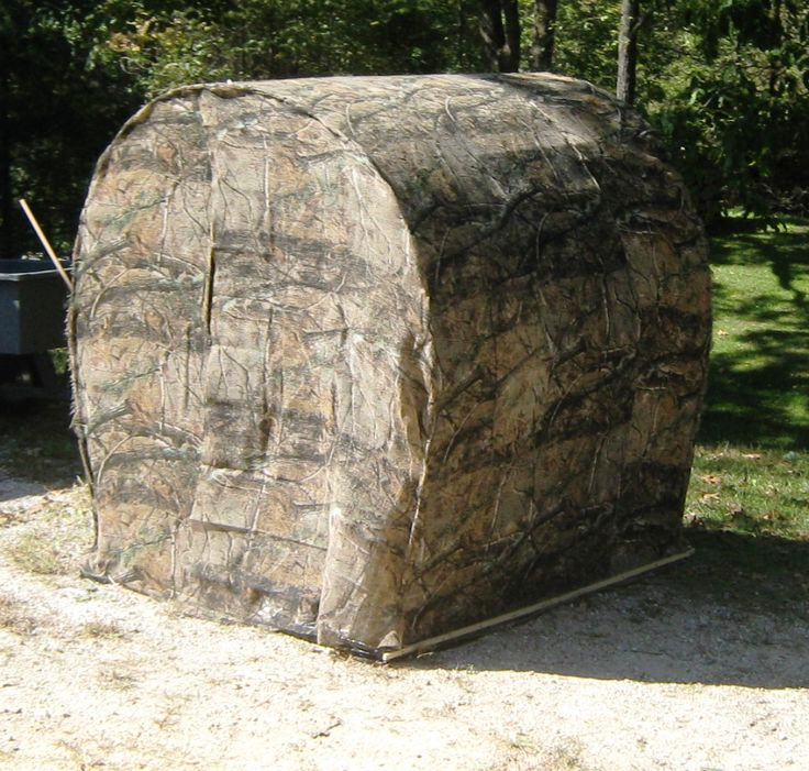 Home built ground blind using cattle or hog panels for Deer ground blind plans