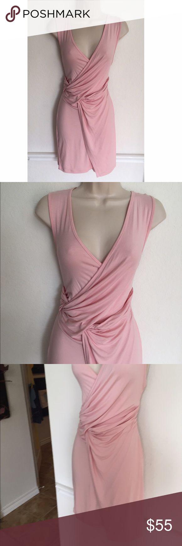 NWT Asos Petite Light Pink Faux Wrap Dress New with tags ASOS petite size 6 pale pink Faux Wrap Dress ASOS Petite Dresses Mini