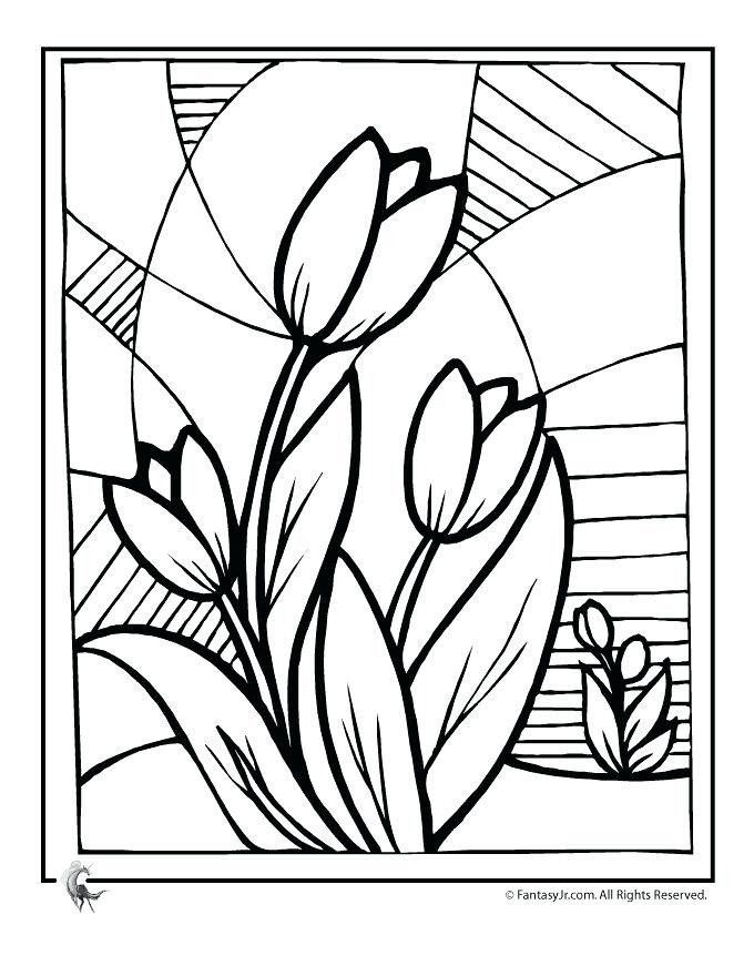 Coloring Books For Senior Citizens Easy Coloring Pages For Seniors Flower Coloring  Pages, Glass Painting Designs, Spring Coloring Pages