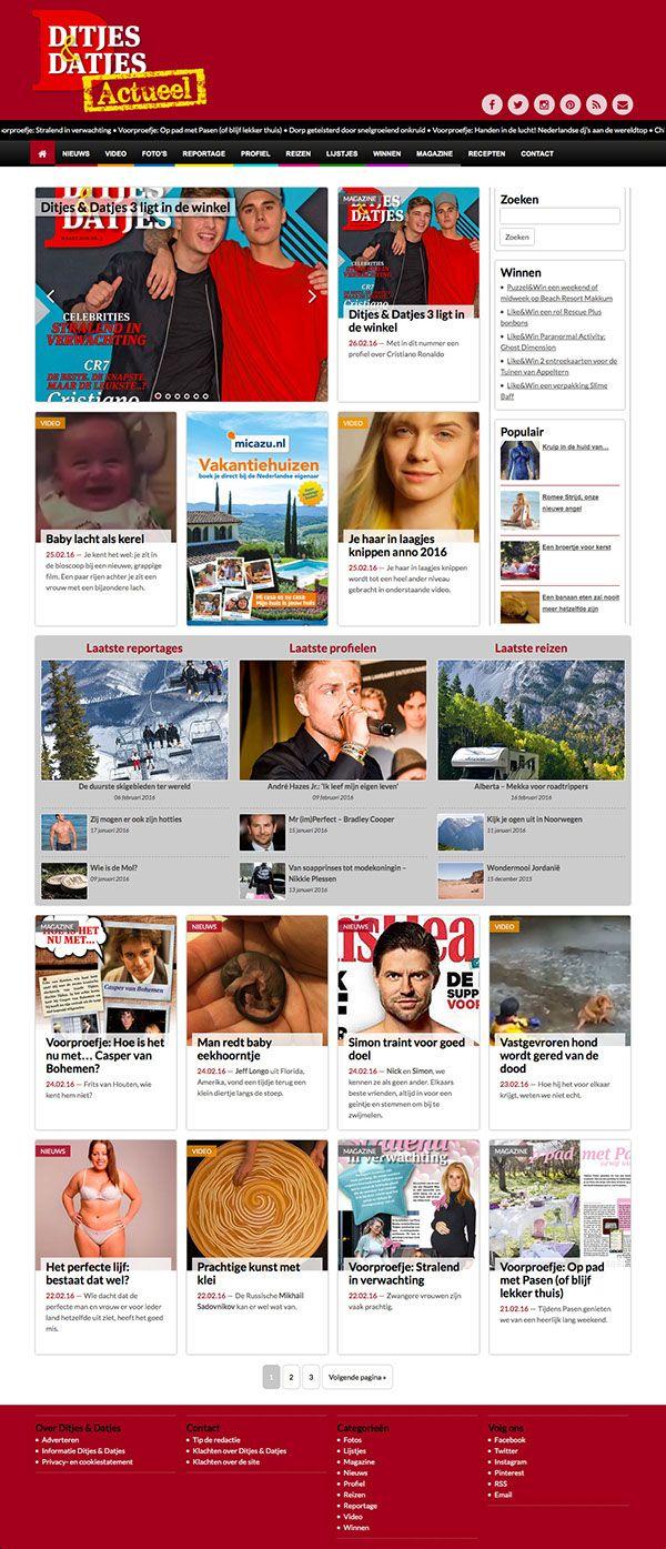 Webdesign voor Ditjes & Datjes #webdesign #responsive #website #ontwerp