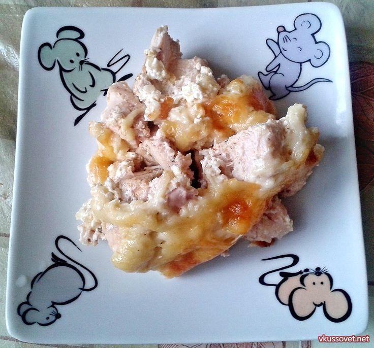 Курица запечённая в сливках и сыре