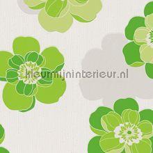 Mila 939942 van AS Creation groene schaduwbloemen behang bij kleurmijninterieur.nl