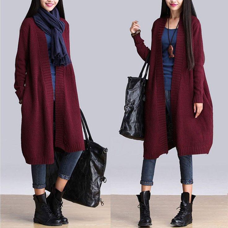 Loose Knit Cardigan Jacket