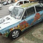 proud local, art on the cars #Valpariso, Chile