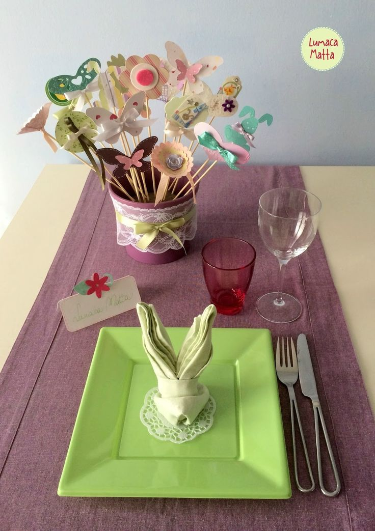 Easter table setting ideas by Handmade with love Lumaca Matta / Come apparecchiare la tavola il giorno di Pasqua #thecreativefactory #handmadeeaster