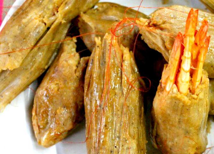 Tamales de camarón