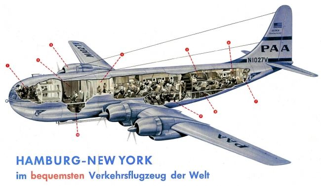 Boeing 307 Stratocruiser Cutaway Drawing Airliner