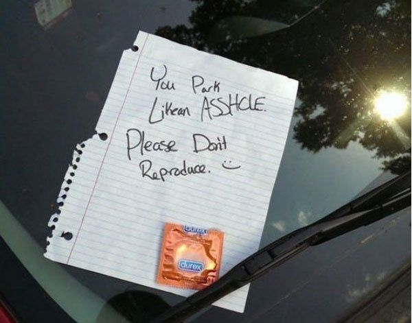 10 of the Most Hilarious Parking Notes Ever Left! This post is hilarious! #spon #lol #badparking