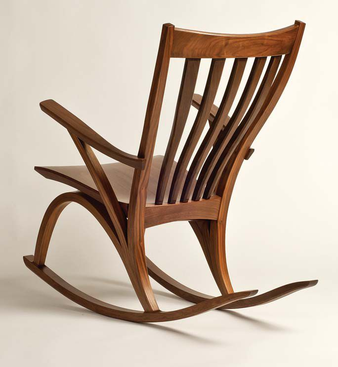 This free tutorial will teach you to make rocking chair plans