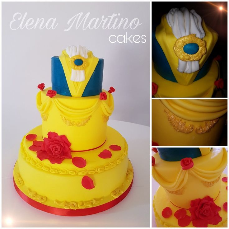 The beauty and the beast cake