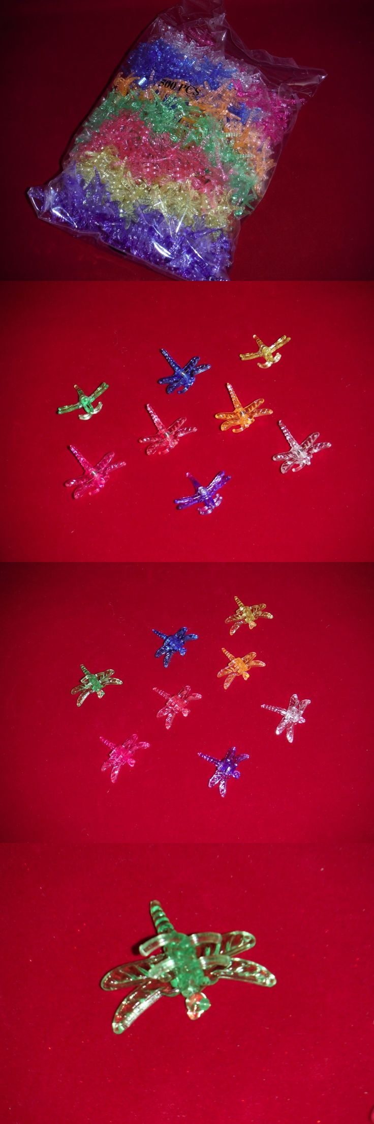 Plant Ties and Supports 181001: X500 Decorative Dragonfly Orchid Nursery Plant Clips Supports Bag 8 Colors -> BUY IT NOW ONLY: $67 on eBay!