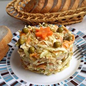 Вкусный салат из зеленой…