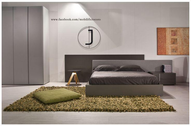 letto Jesse laccato opaco e tessuto  #design #mobilificiocoro #nights #dream #interiors #homedesign